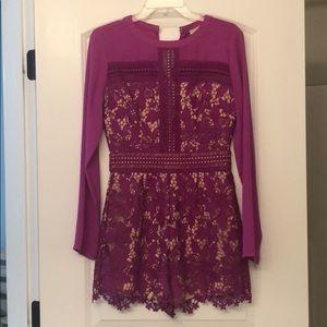 Gianni Bini purple Lace romper